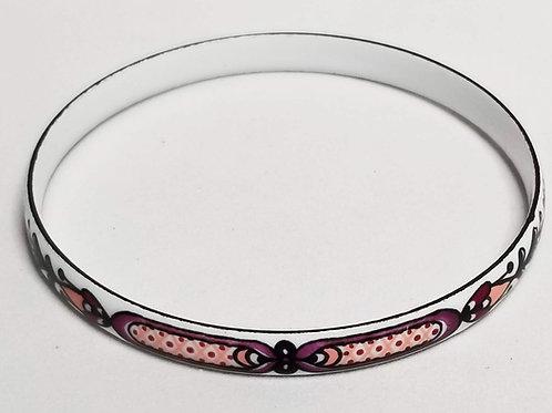 Designer by Marlene, bangle bracelet, Cloisonne enamel multi colored