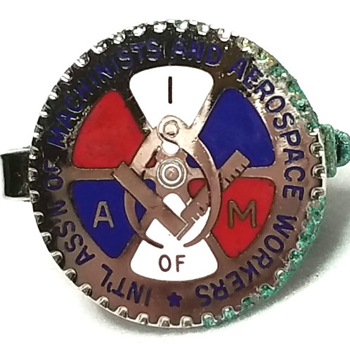 Designer by BB Co, clip, Intl. Assn. of Machinists and Aerospace Workers motif.