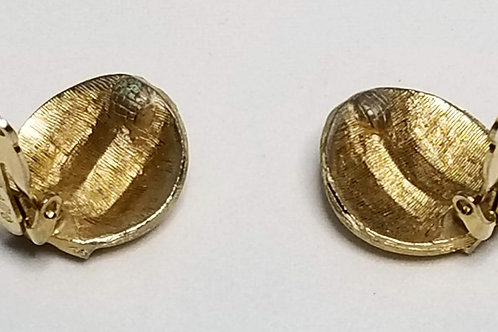 Designer by Pastelli, clip on earrings, gold tone pot metal.