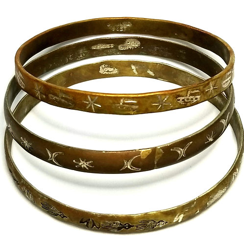 Designer by provenance, bracelets, bangles (three), Made in Mexico, .925 silver.