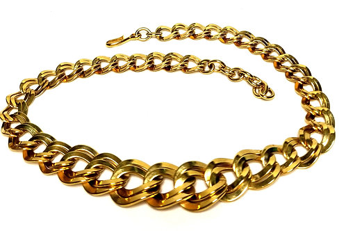 Designer by Monet, necklace, chain links, gold tone 18 inches.
