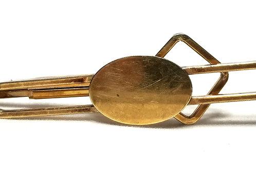 Designer by Krementz, tie clip, gold tone, 2 1/2 inches.