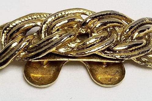 Designer by Musi, neck wear, Omega slide pendant, gold tone pot metal.