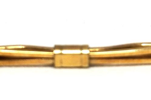 Designer by Krementz, collar clip, gold tone, 1 7/8 inches.