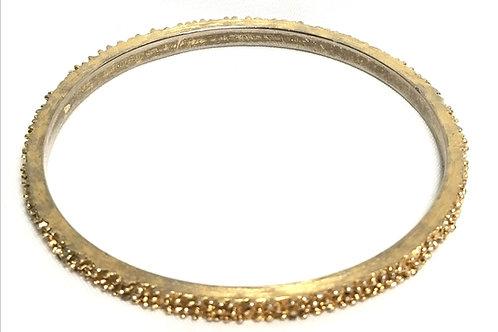 Designer by Trifari, bracelet, bangle, textured gold tone bangle.