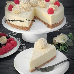No Bake Raffaello Cheesecake