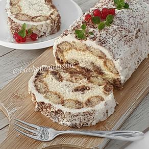 No Bake Tiramisu Roll Cake