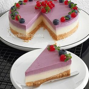 No bake Blueberry joghurt torte