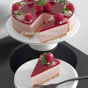 No Bake Raspbeery Cheesecake