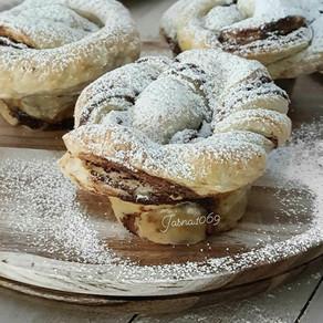 Muffins od lisnatog tijesta sa nutellom