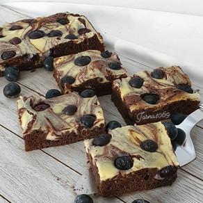 Bluberry - Brownie cake