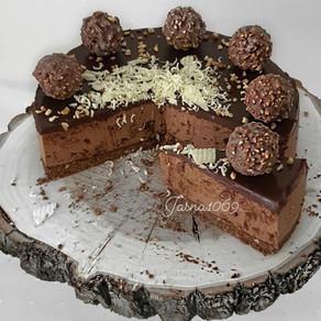 No Bake Ferrero Rocher torta