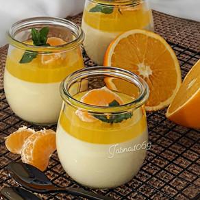 Panna Cotta Orangenn Dessert