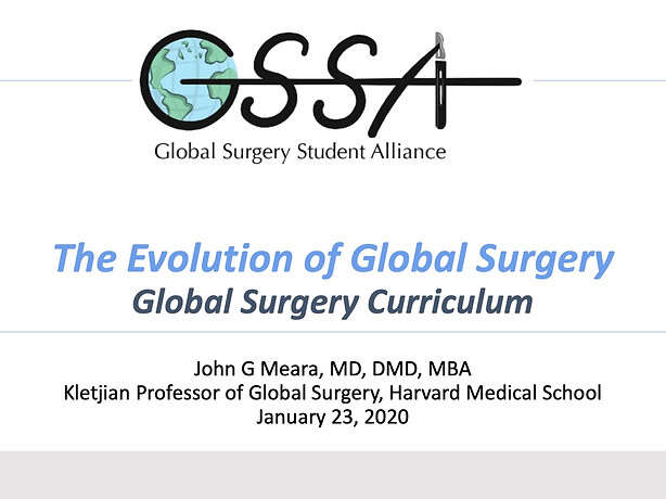 The Evolution of Global Surgery