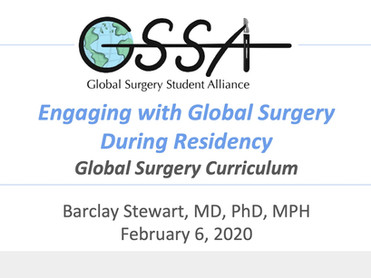 Engaging with Global Surgery During Residency