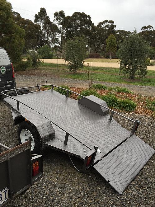 Open Sided 8 x 5 Tilt Golf Cart Trailor