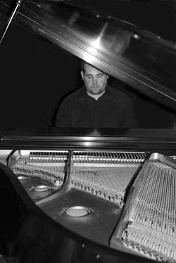 through the piano b and w