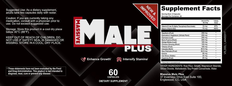 Massive Male Plus Product Label