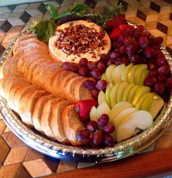 French Brie, Baguette & Fruit