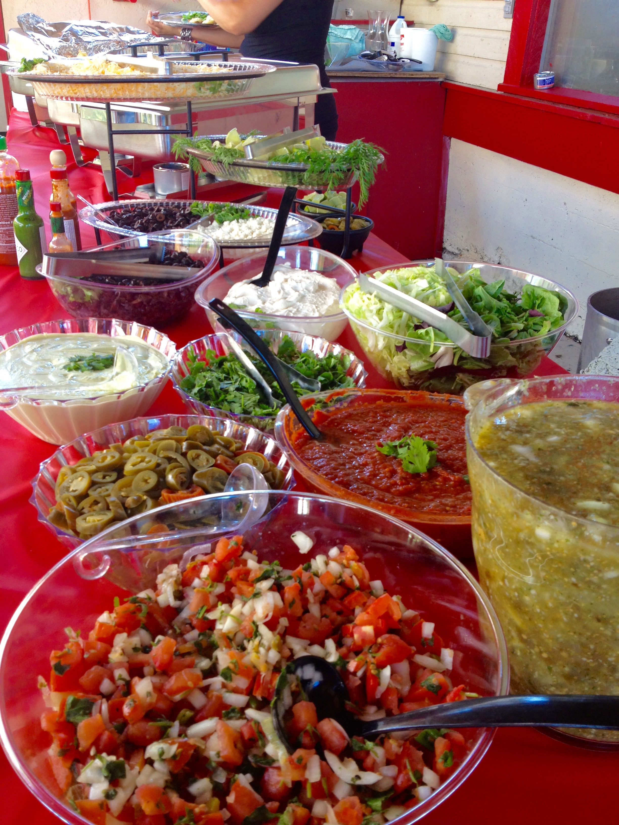 Mexican Wedding Buffet