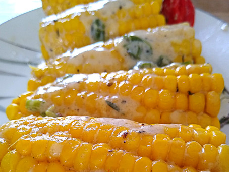 Colours Carnival Home Lime recipes: Coconut corn on the cob