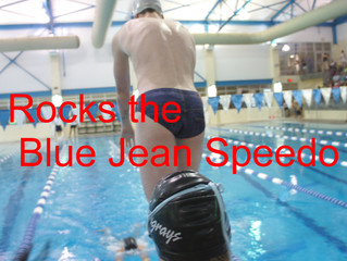 Blue Jean Speedo Spotted at Splash