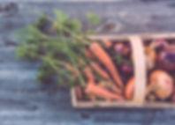 Panier de légumes biologiques