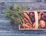 Cesta de vegetais orgânicos