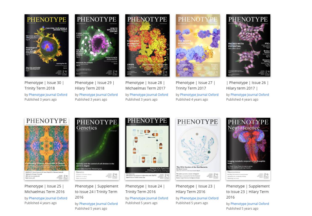 Phenotype journals
