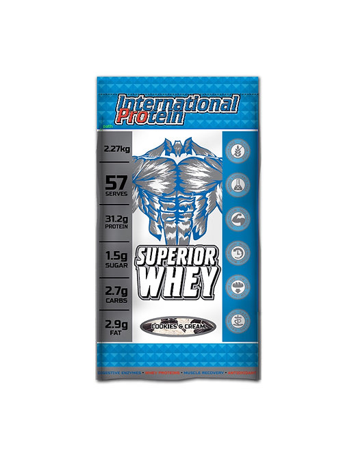 Superior Whey INTERNATIONAL PROTEIN