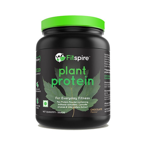 FITSPIRE VEGAN PLANT PROTEIN | CHOCOLATE FLAVOR | 500GM