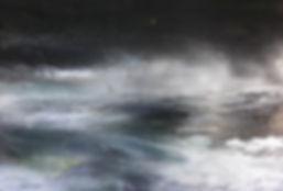 """toile intitulé """"Nuit noire et nuées blanches"""""""