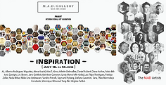 affiche expo a la galerie MAD a Milan de l artiste Daniel Aubert alias Dann