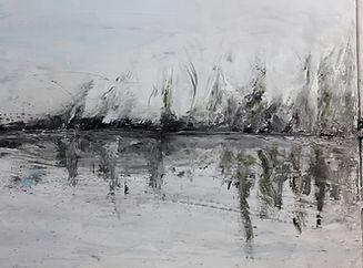 partie centrale de l'oeuvre du peintre Daniel AUBERT alias Dann intitulée Promesse de l'aube réalisée à l'huile sur toile