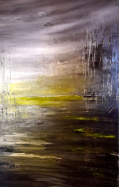 "toile de Daniel AUBERT alias Dann intitulée "" La Malvenue """