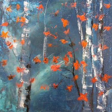 les feuilles papillons mixte 80 x 80 cm.
