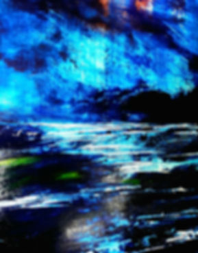"""toile intitulée """"nuit magnétique"""""""