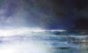 toile intitulée Bleu suave