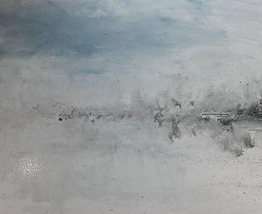 &ere partie du tableau tryptique Evasion de l'artiste Daniel AUBERT alias Dann