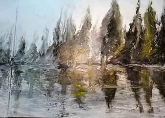 """partie droite de l'oeuvre de l'artiste Daniel AUBERT intitulé """"Tryptique Evasion"""""""