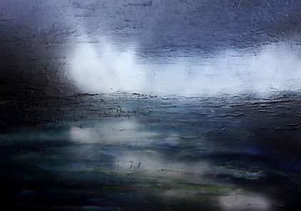 """toile en clair obscure """"ouverture à l'horizon"""""""
