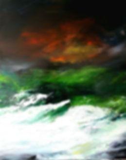 """toile intitulée """"inspirante mélancoliqu"""""""