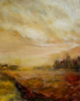 tableau a l huile éternite promise de l artisre Daniel Aubert alias Dann