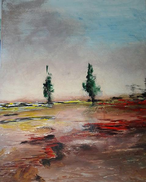 """toile intitulée """"Eternelle promesse"""" de l'artiste peintre Daniel AUBERT alias DANN"""