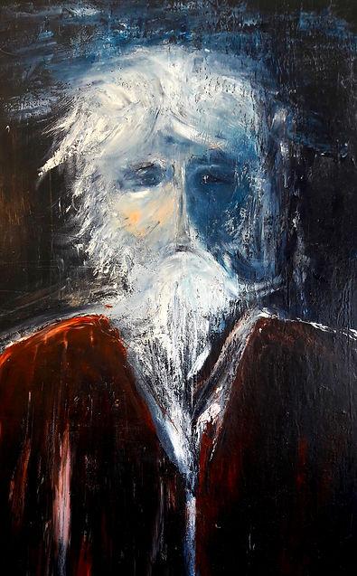 toile intitulé l'homme à la barbe