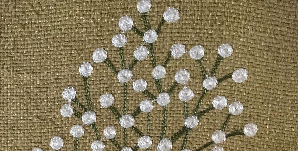 Natural Silk - Crewel Embroidered