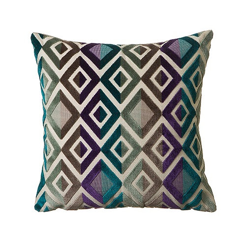Matrix 58x58cm Cushion, Turquoise