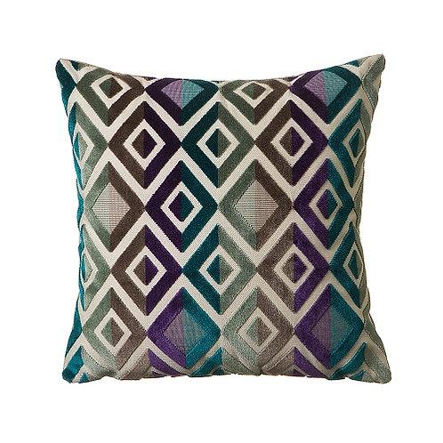 Matrix 43x43cm Cushion, Turquoise