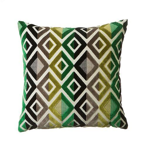 Matrix 58x58cm Cushion, Green