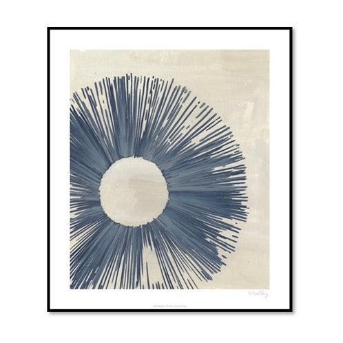 Blue Burst II - Framed & Mounted Art